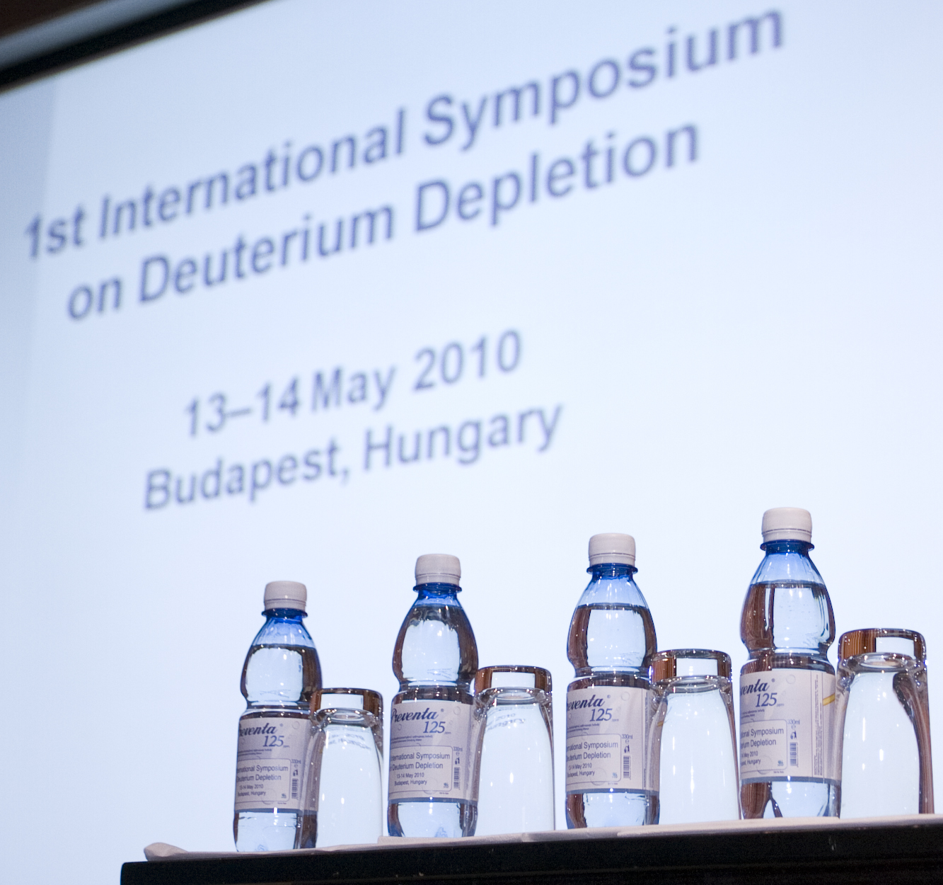 1st International Symposium on Deuterium Depletion 2010